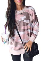 Dusty Pink Digital Camo Print Sweatshirt