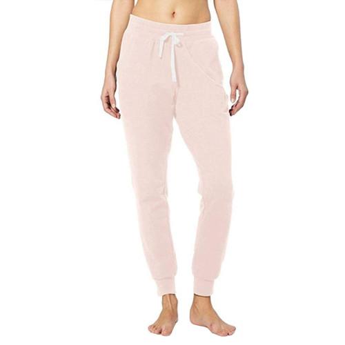 Pink Drawstring Yoga Joggers TQK520022-10