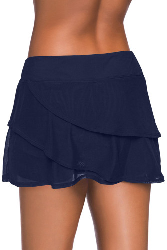 Blue Tiered Swim Culotte LC412191-5