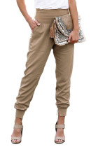 Khaki Pocketed Cotton Joggers LC77345-16