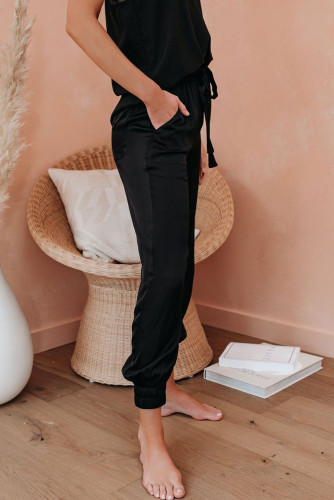 Black Pocketed Joggers LC77411-2