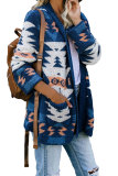 Blue Moraga Pocketed Aztec Cardigan LC270165-5