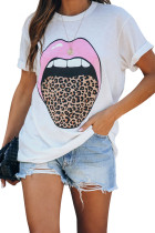 Tongue Twister Leopard Cotton Tee LC253491-1