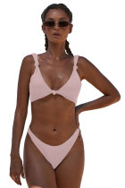 Pink Knotted Two-piece Bikini Swimsuit LC411958-10