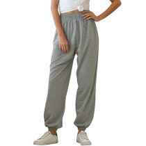 Gray Pocketed Leisure Pant TQK520021-11