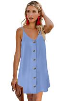 Sky Blue Buttoned Slip Dress LC220704-4