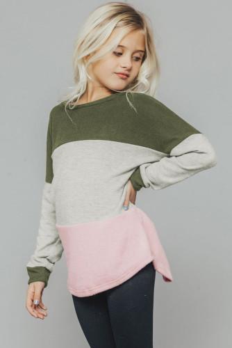 Green The Callie Colorblock Sweater TZ25105-9