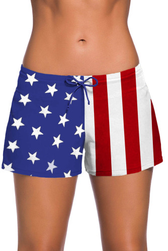 Patriotic American Flag Women Swim Boardshort LC41977-22