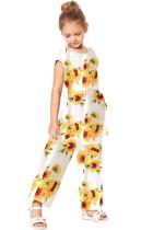 White Sunflower Jumpsuit TZ64007-1