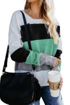 Green Catch Feels Colorblock Sweater LC270192-9