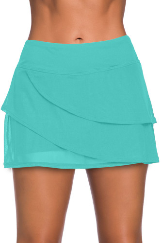 Green Tiered Swim Culotte LC412191-9