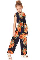 Blue Sunflower Jumpsuit TZ64007-5