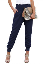 Blue Pocketed Cotton Joggers LC77345-5