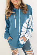 Blue Oversized Pocket Front Hoodie LC253895-5