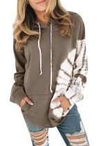 Brown Oversized Pocket Front Hoodie LC253895-17