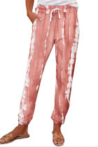 Pink Pocketed Tie-dye Knit Joggers LC77492-10