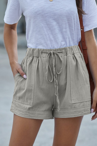 Gray Strive Pocketed Tencel Shorts LC77215-11