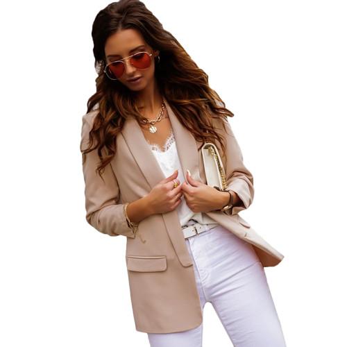 Khaki Double Layer OL Style Lady Blazer TQK260040-21