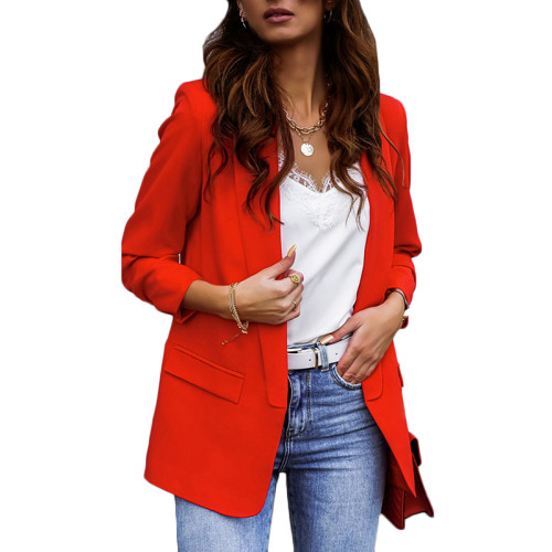 Red Double Layer OL Style Lady Blazer TQK260040-3