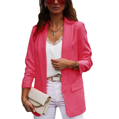 Rosy Double Layer OL Style Lady Blazer TQK260040-6
