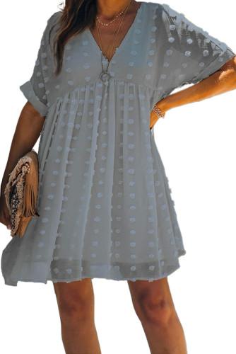Blue Fever Pitch Pom Babydoll Tunic Dress LC221554-4