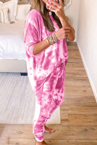 Multicolor Tie-dye Loungewear Set LC451213-22