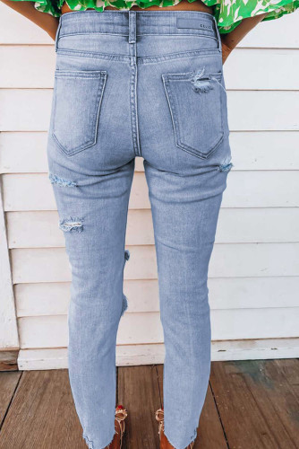 Light Wash Skinny Jeans LC78062-4