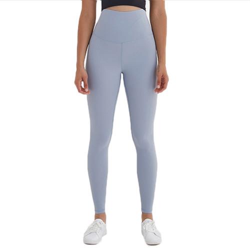 Blue High Waist Leggings Yoga Pants TQE52007-63