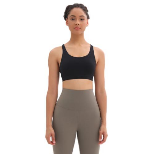 Black Mesh Yoga Sport Bra TQE92006-2