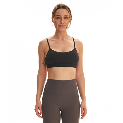 Black Seamless Sling Yoga Sport Bra TQE92005-2
