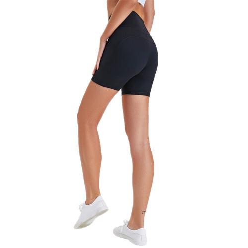 Dark Blue High Waist Butt Lift  Yoga Shorts TQE82008-65