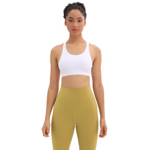 White Mesh Yoga Sport Bra TQE92006-1