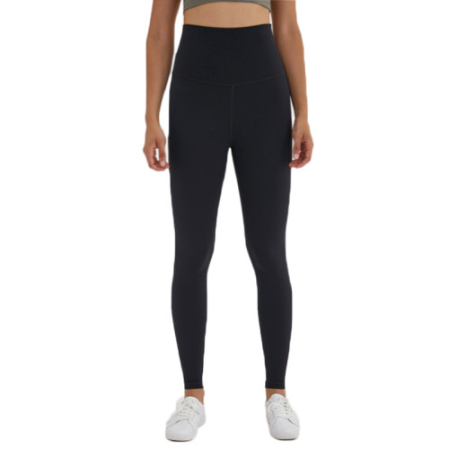 Black High Waist Leggings Yoga Pants TQE52007-2