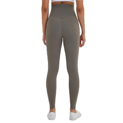 Green High Waist Leggings Yoga Pants TQE52007-52