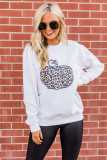 Animal Print Pumpkin White Graphic Sweatshirt LC2531118-1