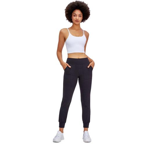 White Crop Sport Yoga Bra Top TQE16014-1