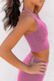 Pink Wireless Performance Knitted Sports Bra LC264042-10
