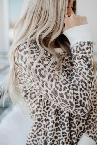 Long Sleeve Leopard Print Top LC2511614-20