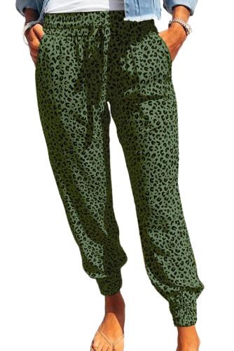 Green Breezy Leopard Joggers LC77171-9