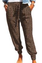 Brown Breezy Leopard Joggers LC77171-17