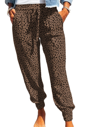 Brown Breezy Leopard Joggers LC77171-17