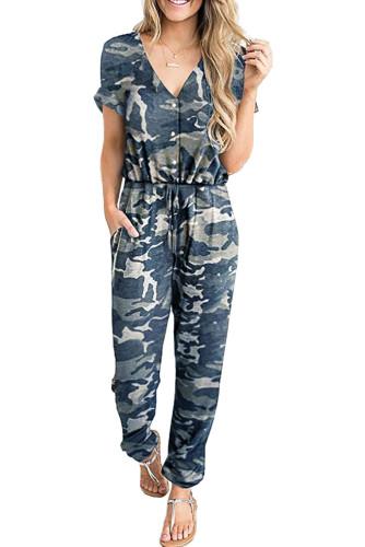 Chic Camo Print Jumpsuit LC64773-9