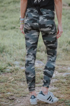 Mid Waist Ankle-length Camouflage Leggings LC76049-109