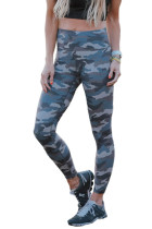 Green Mid Waist Ankle-length Camouflage Leggings LC76049-9