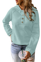 Solid Color Button Casual Hoodie LC2531587-5