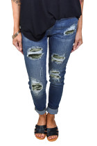 Green Patch Destroyed Skinny Jeans LC78256-9