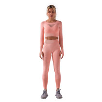 Orange Sportswear Long Sleeve Yoga Pant Set TQK710179-14
