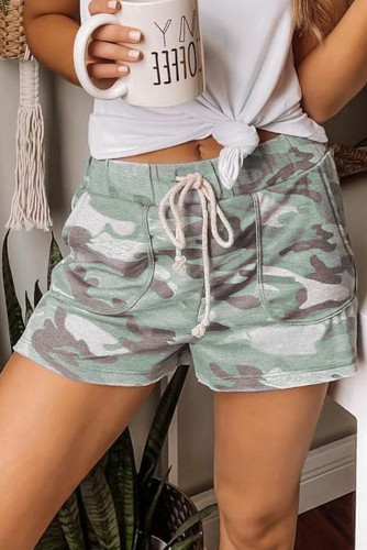 Camouflage Drawstring Casual Shorts LC77923-109
