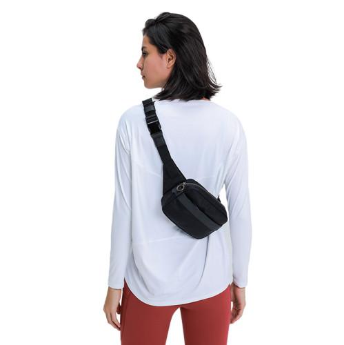 White Breathable Long Sleeve Yoga T Shirt TQE21034-1