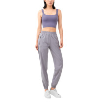 Silver Drop Loose Fit Pocketed Sports Casual Pant TQE67035-83